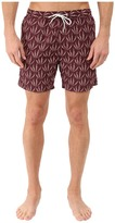 Scotch & Soda Short Length All Over Printed Swim Shorts with Soft Touch in Cotton/Nylon Quality