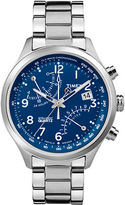 Timex Mens IQ Classic Fly-Back Chronograph Stainless Steel Watch