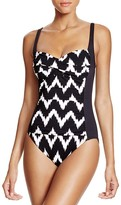 LaBlanca La Blanca Night Waves Sweetheart Maillot One Piece Swimsuit