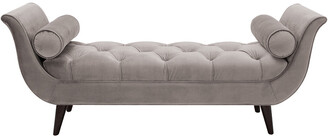 Jennifer Taylor Alma Tufted Flare Arm Entryway Bench