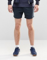 Asos Jersey Runner Shorts In Navy