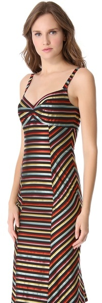 L'Wren Scott Sleeveless Ribbon Dress