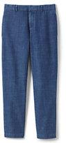 Lands' End Boys Chambray Dress Pants-Rich Sapphire