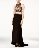Xscape Evenings Embellished Two-Piece Gown