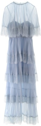 Self-Portrait Cape Tiered Dress