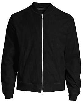 Theory Men's Kaito Standard-Fit Suede Bomber Jacket