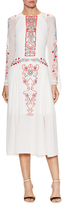Temperley London Silk Embroidered Midi Dress