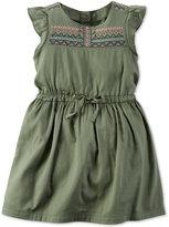 Carter's Flutter-Sleeve Embroidered Dress, Toddler Girls (2T-5T)