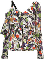Jason Wu printed asymmetric top