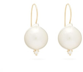 Mizuki Diamond, Pearl & Gold Earrings - Womens - Pearl