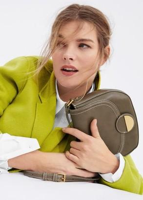 MANGO Violeta BY Seam flap bag green - One size - Plus sizes