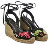 Marc Jacobs Nathalie Embroidered Wedge Espadrilles
