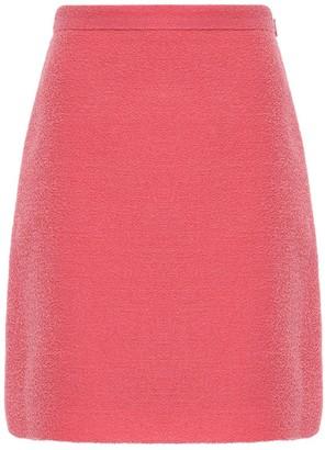 Gucci Gg Wool Blend Tweed Mini Skirt