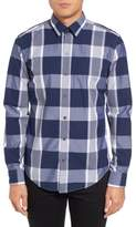 BOSS Men's Trim Fit Check Sport Shirt