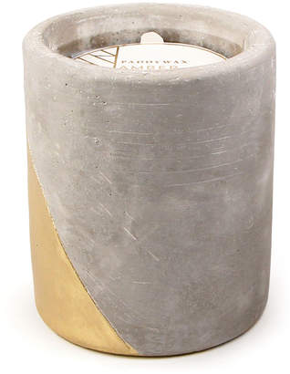 Paddywax Amber + Smoke Large Concrete Candle, 12. oz./340g