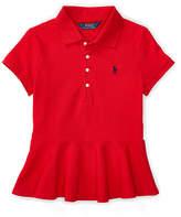 Ralph Lauren Stretch Mesh Peplum Polo Shirt