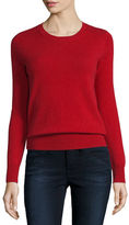 Neiman Marcus Long-Sleeve Crewneck Cashmere Sweater