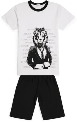 La Perla Kids Lion Head Pyjama Set