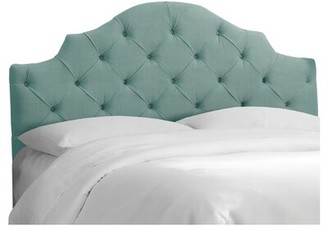 Skyline Furniture Lauryn Tufted Upholstered Headboard Size: Twin, Color: Caribbean