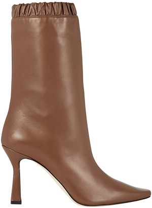 Wandler Lina Slouch Leather Ankle Boots