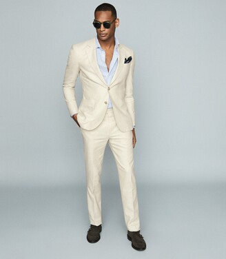 Reiss Rack - Crepe Blazer in Stone