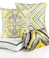 Trina Turk Ikat Yellow Square Pillow