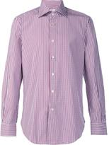 Kiton checked button down shirt