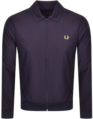 Fred Perry Striped Track Jacket Blue