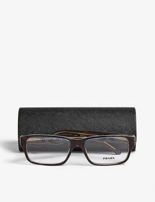 Prada PR16MV square-frame tortoiseshell glasses