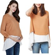 Sweet Mommy Maternity and Nursing Layered A-line Nursing Top PKWHF