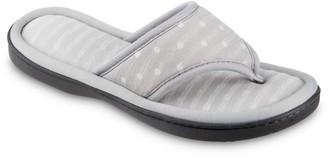 Isotoner Women's Dot Ada Thong Slippers