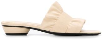 Dorateymur Ruched Strap Low-Heel Sandals