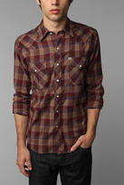 Urban Outfitters Salt Valley Long-Sleeve Hemlock Plaid Western Shirt