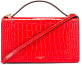 Givenchy GV3 Embossed Croc Strap Wallet Bag in Red | FWRD