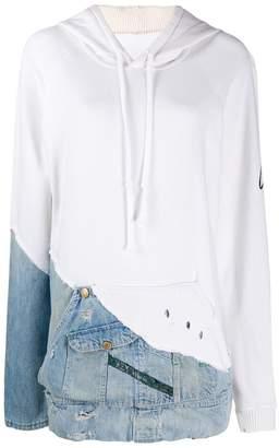 Greg Lauren hoodie with denim patch