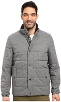 Nautica Zip Front Brushed Herringbone Jacket