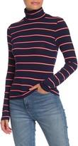 GOOD LUCK GEM Neon Stripe Turtleneck Sweater