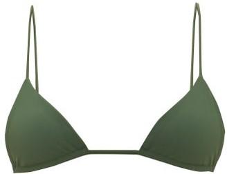 JADE SWIM Via Triangle Bikini Top - Womens - Dark Green