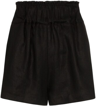 BONDI BORN Ruched Waist Shorts