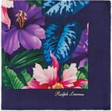 Ralph Lauren Purple Label Men's Floral Silk Pocket Square