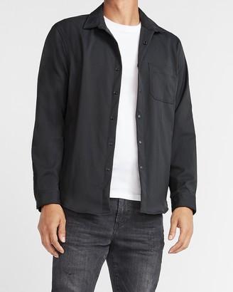 Express Black Shirt Jacket