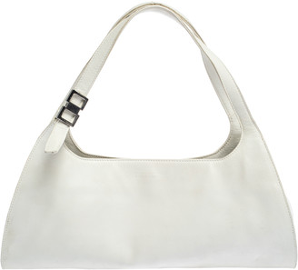 Gucci White Leather Shoulder Bag