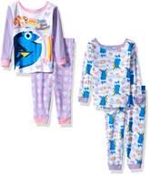 "Disney Finding Dory Baby Girls' ""Rainbow Swim"" 4-Piece Pajama Set"