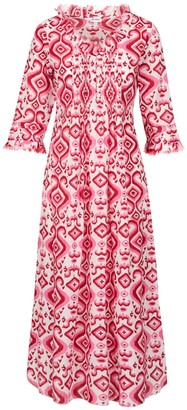 At Last... Cotton Maxi Annabel Pink Ikat