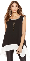 Quiz Black And Cream Sleeveless Necklace Top