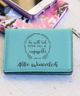 Stamp Out Key Chains Teal - Teal 'With God' Personalized ID Key Chain