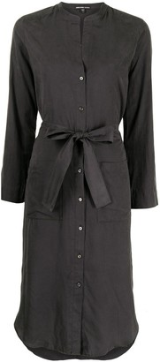 James Perse Tied-Waist Shirt-Dress