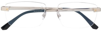Cartier rectangular frame rimless glasses
