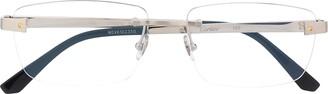 Cartier Rectangular Frame Rimless Glasses