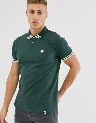Pretty Green tipped polo in green